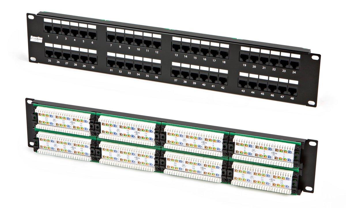 Патч-панель 19, 48xRJ45, UTP, Кат. 5е Hyperline PP3-19-48-8P8C-C5E-110D